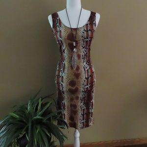 Snakeskin print dress - NWOT